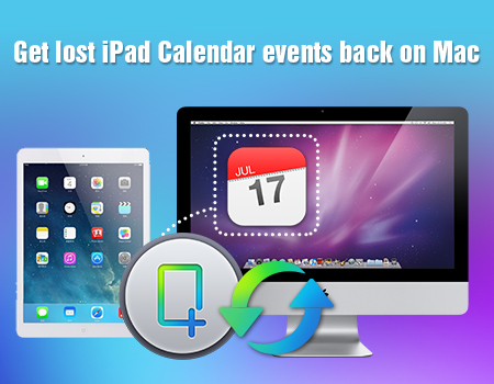Get lost iPad Calendar events back on Mac