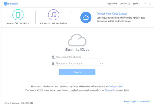 Recover from iCloud1