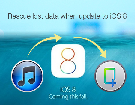 Rescue lost data when update to iOS 8