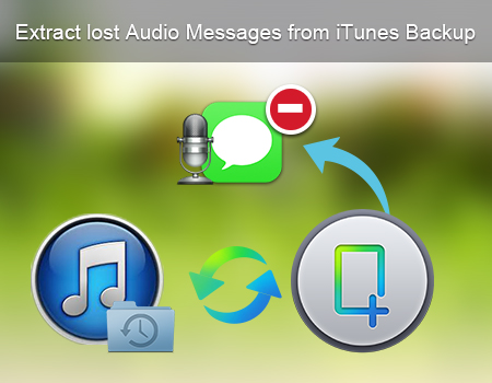 Extract lost Audio Messages from iTunes Backup