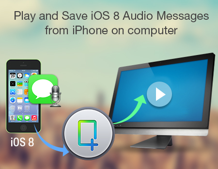 Play and Save iOS 8 Audio Messages from iPhone on computer