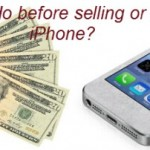 What should I do before selling or giving away iPhone?