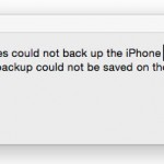 What should you do when you cannot backup your iPhone with iTunes?