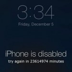 Solutions when your iPhone is disabled