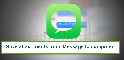 Save attachments from iMessage to computer